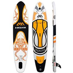 "Aqua Marina 10'10"" Inflatable Stand Up Paddle Board  with Ad"