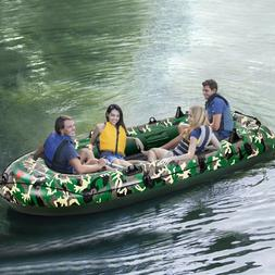 10FT Foldable 4-Person Inflatable Kayak Boat Rain Shelter Ca