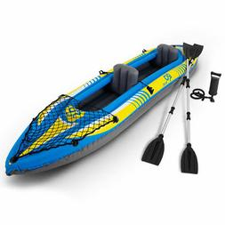 11.5ft Goplus 2-Person Inflatable Canoe Boat Kayak W/ Pump P