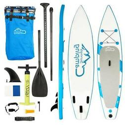 """11' x 32"""" Inflatable Stand Up Paddle Surf Board SUP Package"""