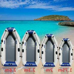 175-260cm PVC Inflatable Boat Wear-resistant Foldable Air Ro