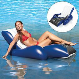2) INTEX Floating Recliner Lounge Float w/Cup Holders
