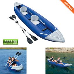 2-Person Bolt Inflatable Kayak w/ 2 Oars Pump Carry Bag Pres