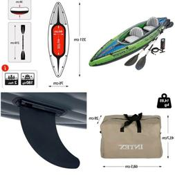 2-Person Inflatable Challenger K2 Kayak Set with Aluminum Oa