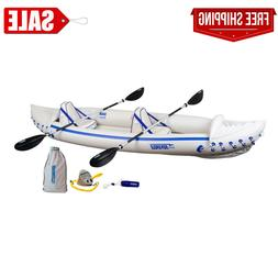 3 Person Inflatable Portable Sport Kayak Canoe Boat w/ Paddl