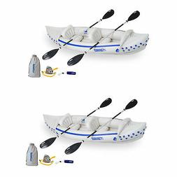 Sea Eagle 330 Deluxe 2 Person Inflatable Sport Kayak Boat &