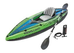Intex 68305EP Challenger K1 Inflatable Kayak with Oar and Ha