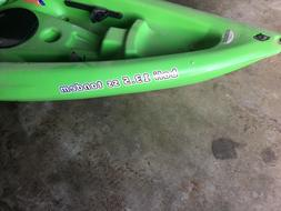 sun dolphin bali 13.5 tandem kayak. Color is lime green. Lim