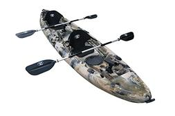 BKC UH-TK219 12 foot Tandem Sit On Top Kayak 2 or 3 person w