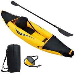 Blue Wave Sports Nomad 1 Person Inflatable Kayak, Black