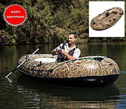 camouflage inflatable boat pontoon dinghy kayak raft
