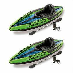 Intex Challenger K1 1-Person Inflatable Sporty Kayak w/Oars