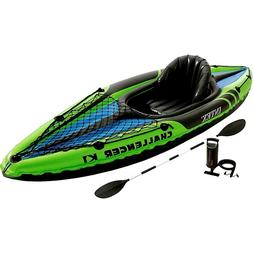 Intex Challenger K1 9 Ft Kayak 1 Person Inflatable Set With