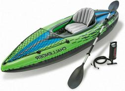 Challenger K1 Inflatable Kayak With Oar And Hand Pump intex