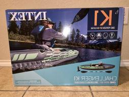 Intex Challenger K1 Inflatable Kayak with Oar and Hand NEW I