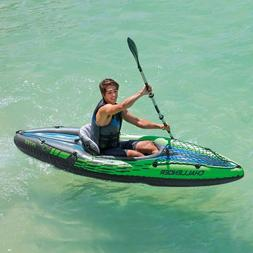 IntexChallenger K1 Inflatable Kayak with Oars and Pump