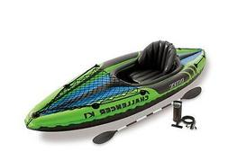 Intex Challenger K1 1-Person Inflatable Sporty Kayak + Oars