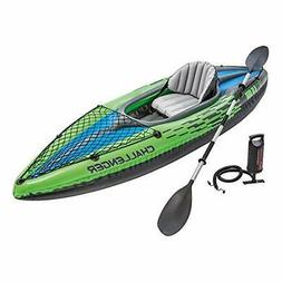 1-Person Inflatable Kayak Set with Aluminum Oars and High Ou