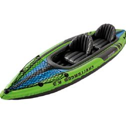 Intex Challenger K2 2-Person Inflatable Sporty Kayak + Oars