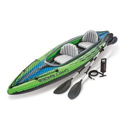 Intex Challenger K2 2 Person Kayak w OARS & PUMP 🔥 BLAZIN