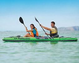 Intex Challenger K2 Inflatable Kayak Set with Paddles and Pu