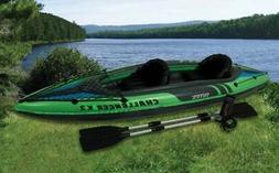 Intex Challenger K2 Two Person Inflatable Kayak Kit w/ Oars