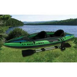 Intex Challenger K2 Two Person Inflatable Kayak Kit with Oar