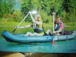 colorado 2 person inflatable boat canoe