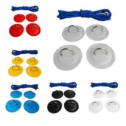 D-ring Pad Patch and Shock Cord Kayak Canoes Rigging Kit Inf