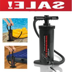 Double Action Hand Air Pump Inflatable Float Tube Raft Boat