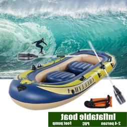 Drifting Kayak Inflatable 4 Person Floating Boat Raft Set wi