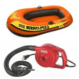 explorer 200 inflatable 2 person boat kayak