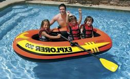 Intex Explorer 300, 3-Person Inflatable Boat Set with French