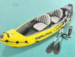 Intex Explorer K2 2-Person Inflatable Kayak with Oars and Ha