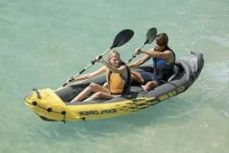 Intex Explorer K2 2-Person Inflatable Kayak Set with Oars an