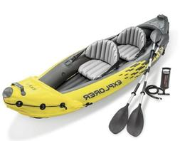 Intex Explorer K2 Inflatable Kayak with Oars and Hand Pump S