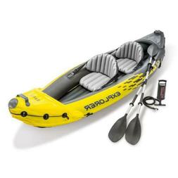 Intex Explorer K2 Inflatable Kayak with Oars and Hand Pump L