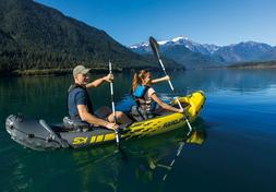Intex Explorer K2 2-Person Inflatable Kayak Set with Alu Oar