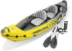 Intex Explorer K2 Inflatable Kayak 2 Person Adjustable Seat