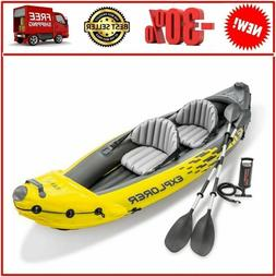 explorer k2 kayak 2 person inflatable set