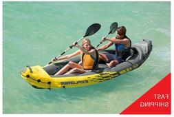 Intex Explorer K2 Kayak 2Person Inflatable Kayak Set With Al