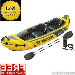 INTEX EXPLORER KAYAK K2 2 PERSON INFLATABLE KAYAK WITH ALUMI
