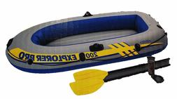 Intex Explorer Pro 200 - 2 Person Inflatable Boat Set with O