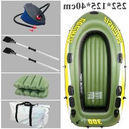 Fishing Raft Inflatable Boat 3 Person Boats 252*125*40cm PVC