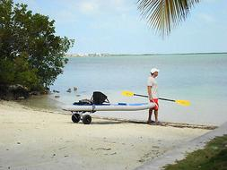 FOLDABLE KAYAK KABOAT PADDLE BOARD SMALL BOAT TRAILER CARRIE