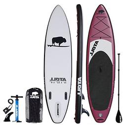 Atoll 11' Foot Inflatable Stand Up Paddle Board  ISUP, Bravo