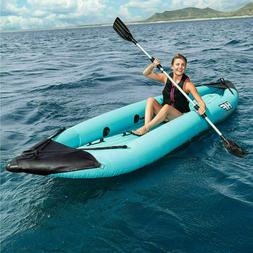 Hydro-Force™ 12.6ft  Bolt 2 Person Inflatable Kayak with 2