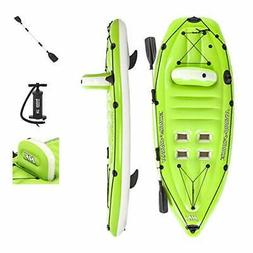 hydro force koracle inflatable kayak set includes