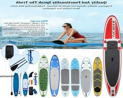 """Inflatable 11' Stand Up Paddle Board 2 in 1 SUP+Kayak 6"""" Sur"""