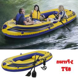 Inflatable 3-Person 8FT Camouflage Dinghy Kayak Boat Fishing